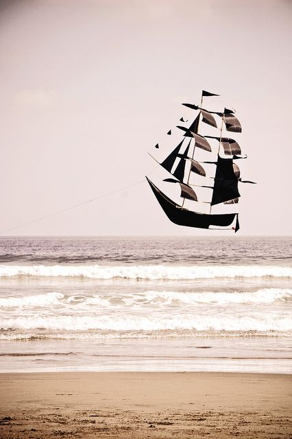 ⚓♡salt air⊰⛵ .sailing by the beach (kite)