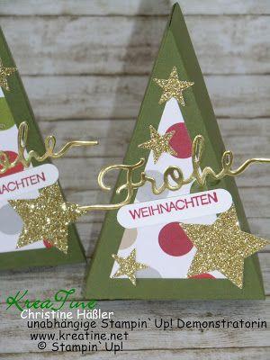 KreaTine: Weihnachtsbäume mit Tortenstück Thinlits-Form