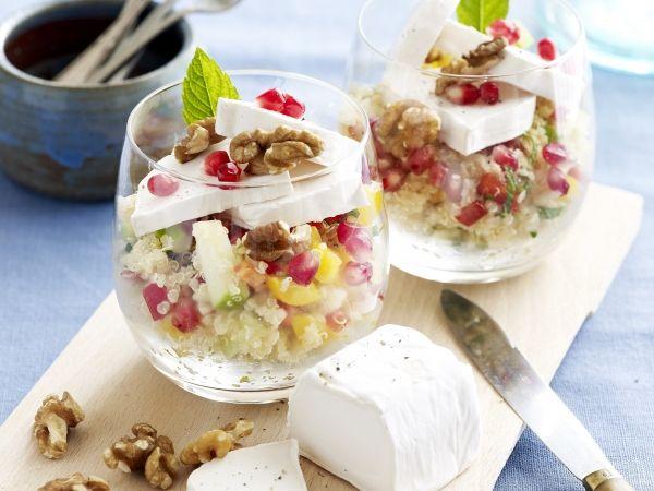 Quinoasalade met walnoten en geitenkaas