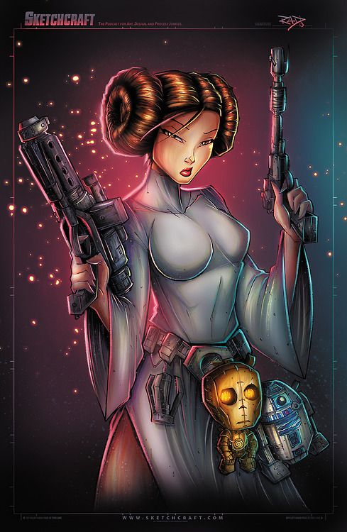 Star Wars : Leia by Rob Duenas
