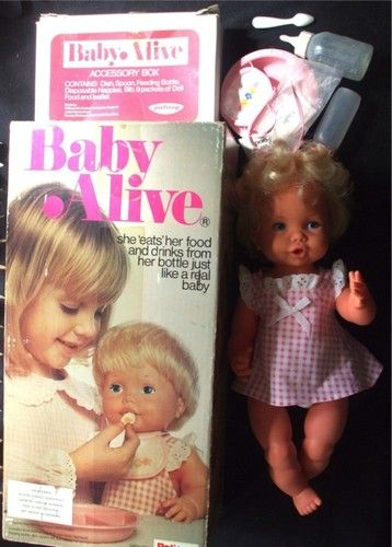Palitoy TOY Baby Alive Feeding Doll Vintage 1970s. Had this exact dolly, many hours of fun.