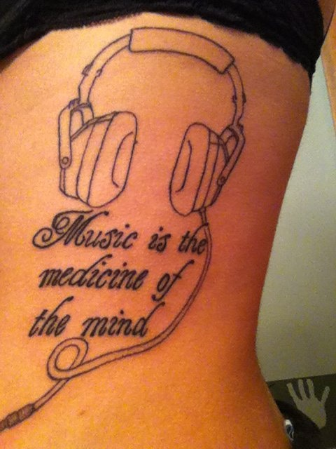 my second tattoo :) didnt hurt too bad  #quotes #tattoos #music
