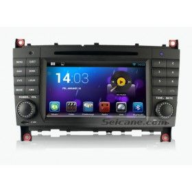 OEM 7 inch Dual-core Android 4.2 Autoradio GPS navigation system for 2004 2005 2006 2007 Mercedes-Benz C W203 C180 C200 C220 C230 C240 C270 C280 C320 C350 C32 C30 C35 with DVD 3G WiFi Bluetooth OBD II IPod Mirrorlink  CPU: RK3066 1.6 GHz Cortex A9 Dual-core with 40NM low-power dissipation electronics, 400MHZ Mali-400MP4 Quad-core GPU, high performance 2D embedded accelerator and H.264 MVC audio decoder,  support H.265 and VP8.