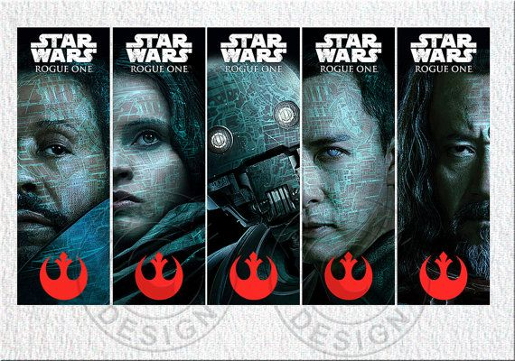 INSTANT DOWNLOAD Rogue One bookmarkers Star Wars by BogdanDesign