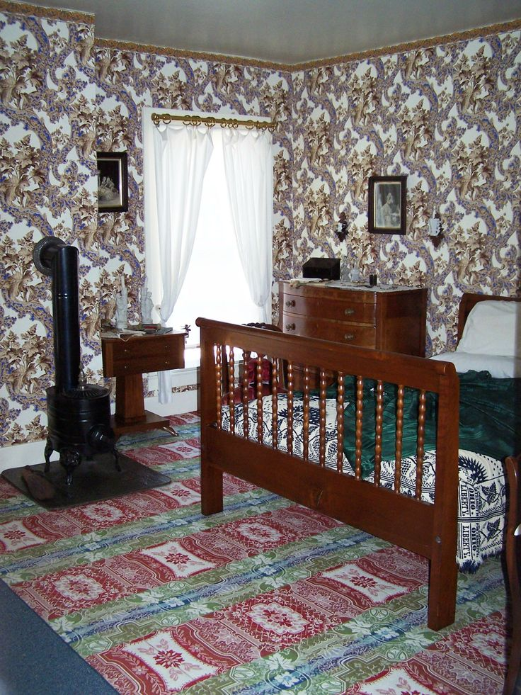 One of the bedrooms in Abraham Lincoln's Home.
