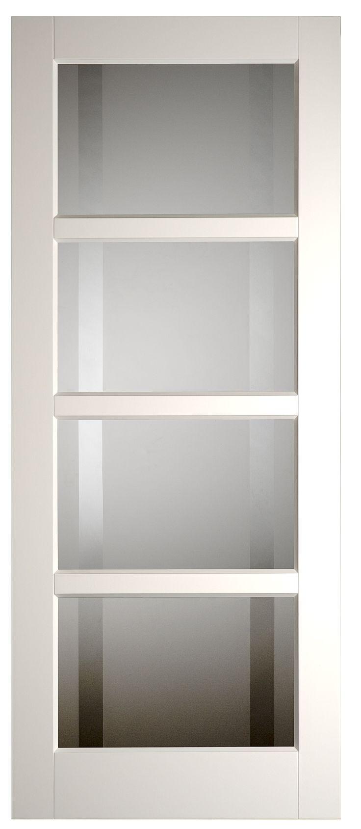 Binnendeur met glas hal <<>> woonkamer
