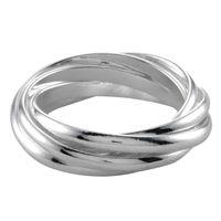 Ring NENA: De zeven smalle ringen die met elkaar verwerven zijn maken van deze ring een aparte verschijning. Deze ring maakt deel uit van de collectie Keep it simple. Gemaakt van echt 925 sterling zilver.
