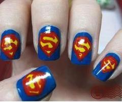 nails: Style, Super Man, Nail Designs, Makeup, Art Design, Beauty, Nail Ideas, Nail Art