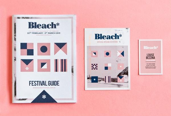 Bleach* Festival 2013 - program, flyer and business card
