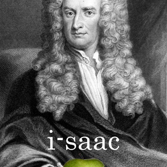 i-saac Newton Get this artwork in dozens of products available in our Red Bubble Shop #πλAy #playshirts #tshirt #redbubble #print #iphone #case #dress #man #woman #sticker #bag #pillow #stationery #noebook  #mug #print #poster #skin #leggins #duvet #cover #isaac #newton #apple #gravity #science