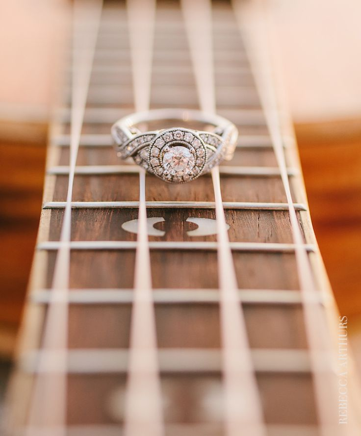 love my vintage inspired engagement ring! photo by Rebecca Arthurs