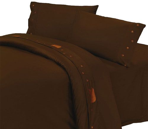 Thank you. You will receive a $1 off coupon during checkout. Bears Rustic Sheets - Chocolate Sheet Sets - 350 Thread Count