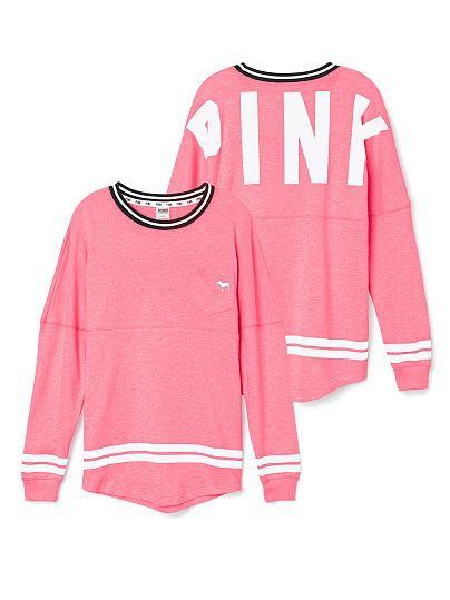 Varsity Crew - PINK - Victoria's Secret Size Small in neon pink $49.95