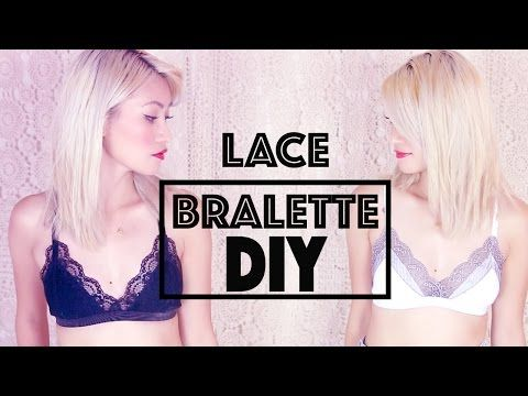 DIY: Simple Sexy Lace Bralette - YouTube