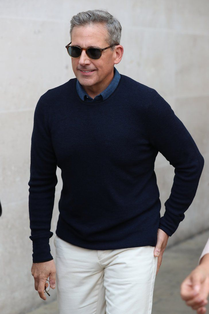 Wow, Steve Carell Is Looking Like a Fine Silver Fox These Days