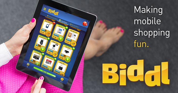 A truly mobile shopping game! Get it now at https://get.biddl.com/