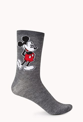 Mickey Mouse Crew Socks | FOREVER21 - 2000074069