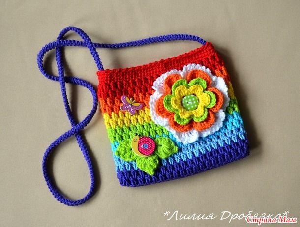 Сумка вязаная, детская сумочка для девочки - Вязание - Страна Мам
