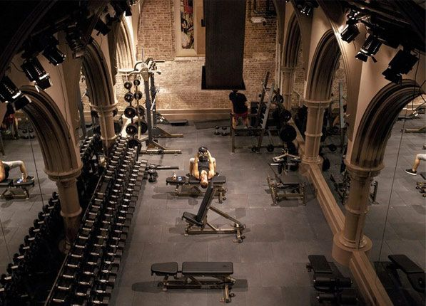 DAVID BARTON GYM - LIMELIGHT (NEW YORK, NY) David Barton gyms are notoriously kooky, and this one--housed in a former Episcopal church turned drug rehab center turned mega-nightclub (Limelight, anyone?)--is no exception.     Read more: 7 of the World's Coolest Gyms | Making your treadmill look super lame