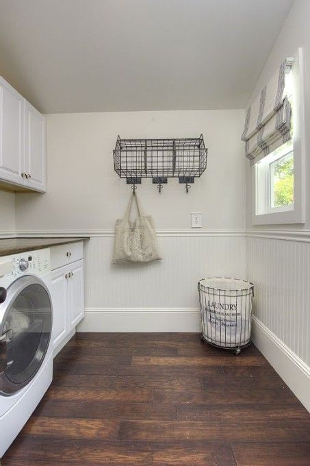 Updated Historic Farmhouse Tour Its Overflowing Laundry Room Colors Laundry Roomsindustrial Farmhouseflooring