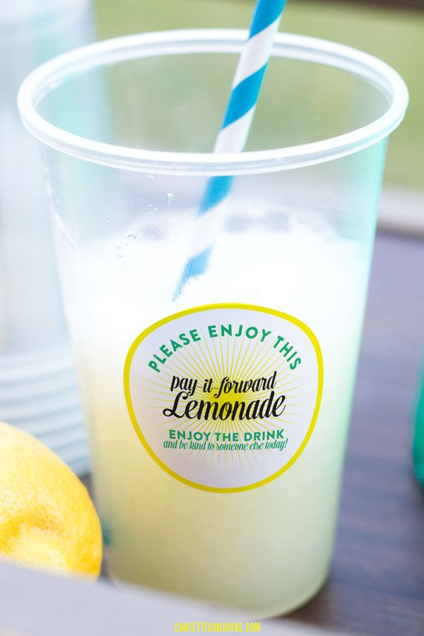 Lemonade Stand: free printable stickers by Confetti Sunshine