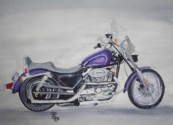 Harley Davidson watercolour