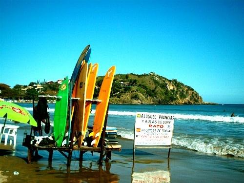surfboard rack on water
