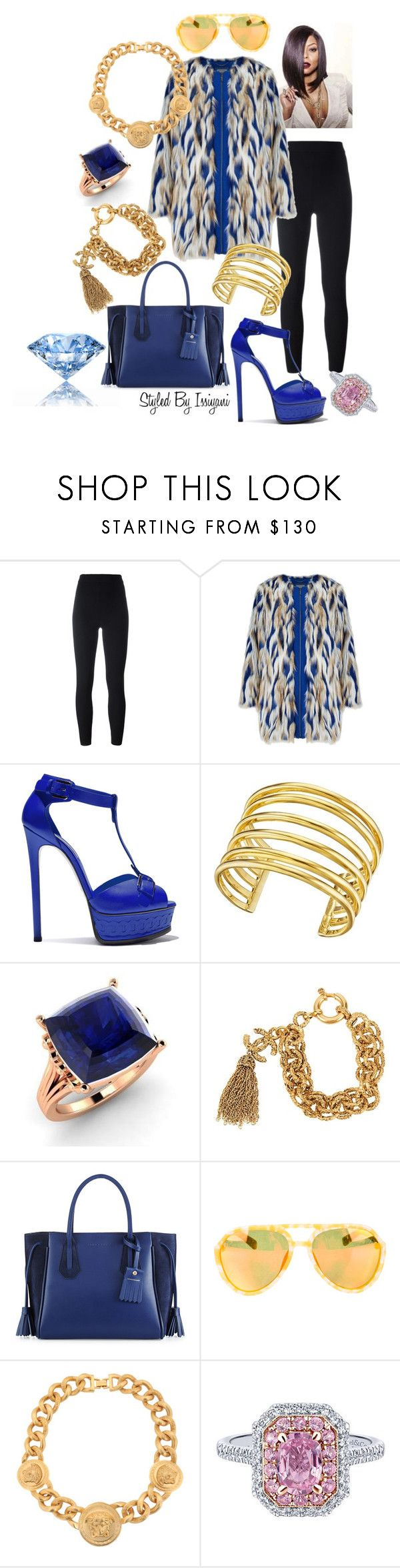 """""""Cookie is Queen"""" by styledbyissiyani ❤ liked on Polyvore featuring Yeezy by Kanye West, Casadei, Lynn Ban, Diamondere, Chanel, Longchamp, Linda Farrow and Versace"""