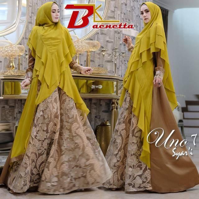 Gamis Pesta Mewah Berkualitas Membeli Jualan Online Baju Muslim Jumpsuit Dengan Harga Murah Lazada Indonesia Baju Muslim Muslim Pesta