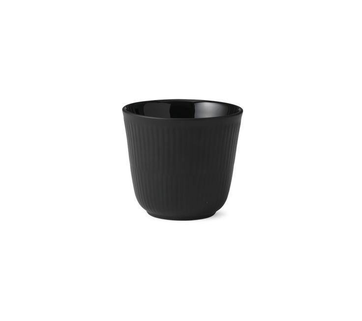 Black Fluted Thermal mug 9,5 cm