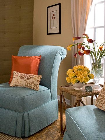 Tailored, sophisticated, and elegant, this newly covered chair adds a stylish element to any room.