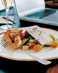 Santorini Salad with Grilled Shrimp