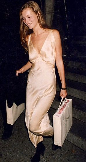 Kate Moss style silk gown
