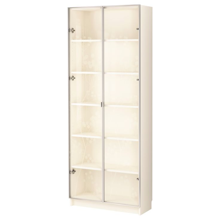 Billy Billy Valbo Bookcase With Glass Doors White Ikea