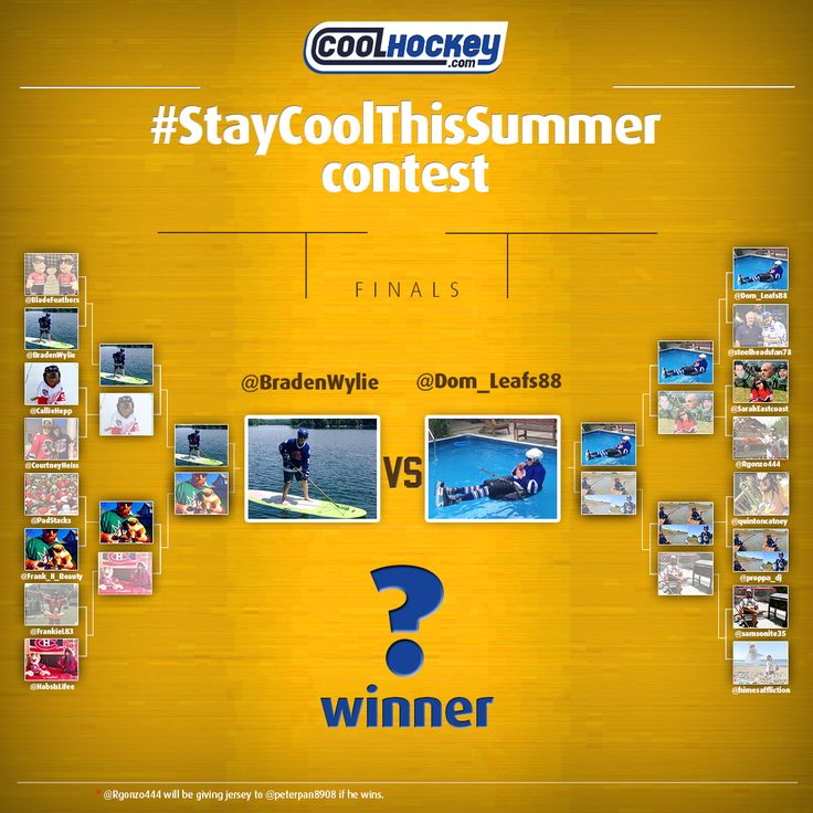 #StayCoolThisSummer #Contest Finalists! Go to Twitter/ Instagram to vote for your favorite picture now! COOLHOCKEY.com FREE #NHL JERSEYS