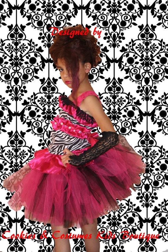 Dazzling diva  rock'n roll style zebra tutu by cookiesandcostumes, $80.00
