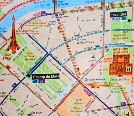 Paris bus map
