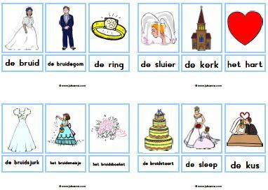 Woordkaarten met lidwoord » Juf Sanne