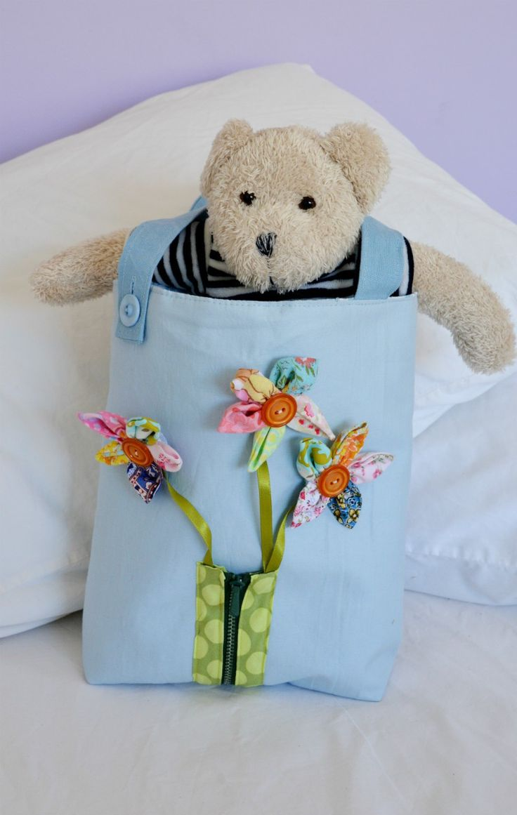 busy toddler bag with fabric scraps