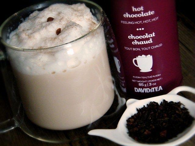 Davids Tea Hot Chocolate Tea Latte