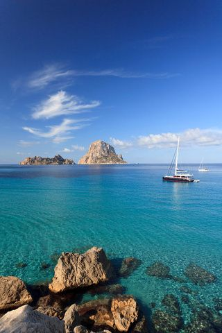 Cala d'Hort (Ibiza).  The best place to wear our UjENA Ibiza Split Tankini.   www.ujena.com