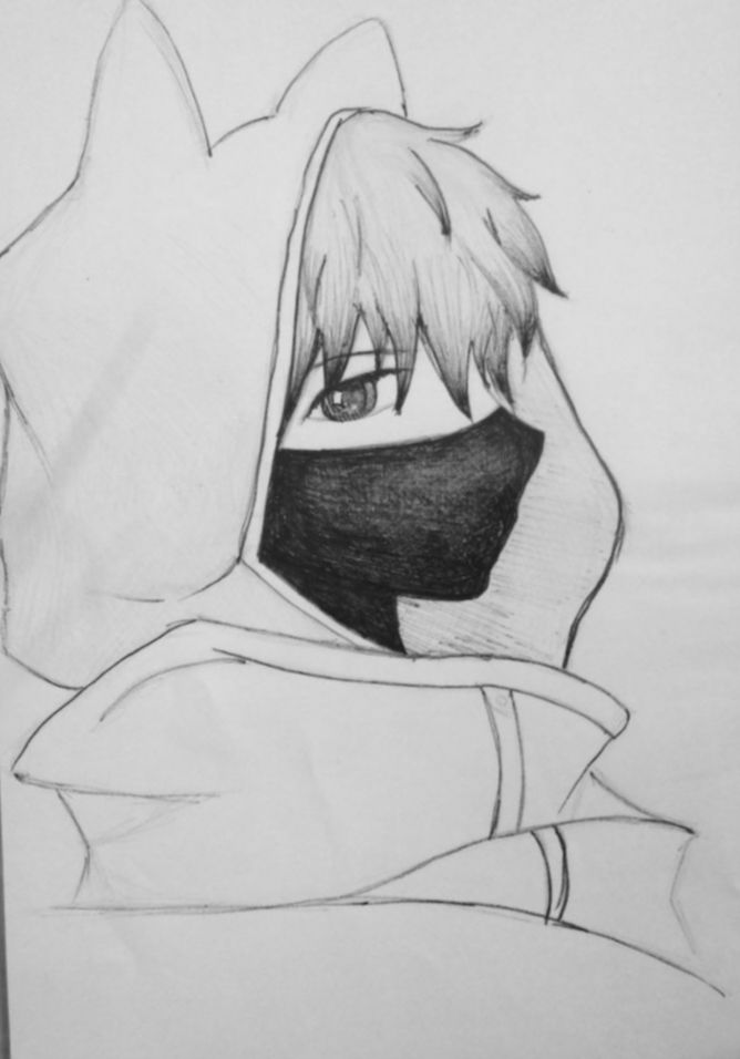 21 Anime Face Mask Drawing Anime Boy Sketch Anime Drawings
