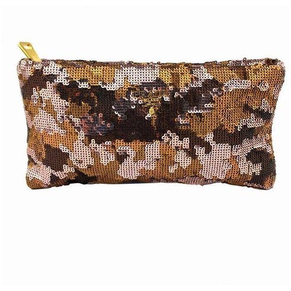 white prada purse - Pre-Owned Prada Sequin Paillettes Camouflage Evening Bag Clutch ...