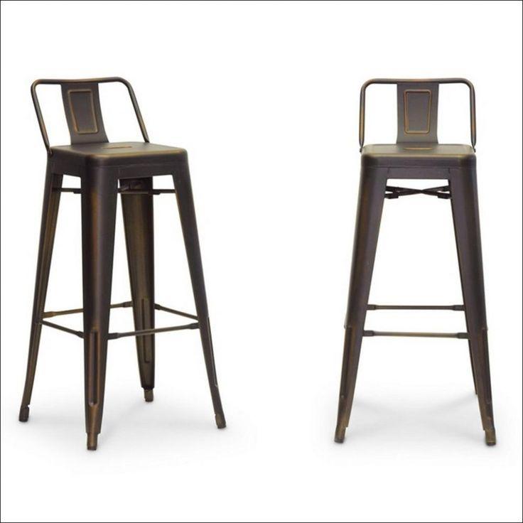low bar stühle aus holz und metall hocker theke höhe