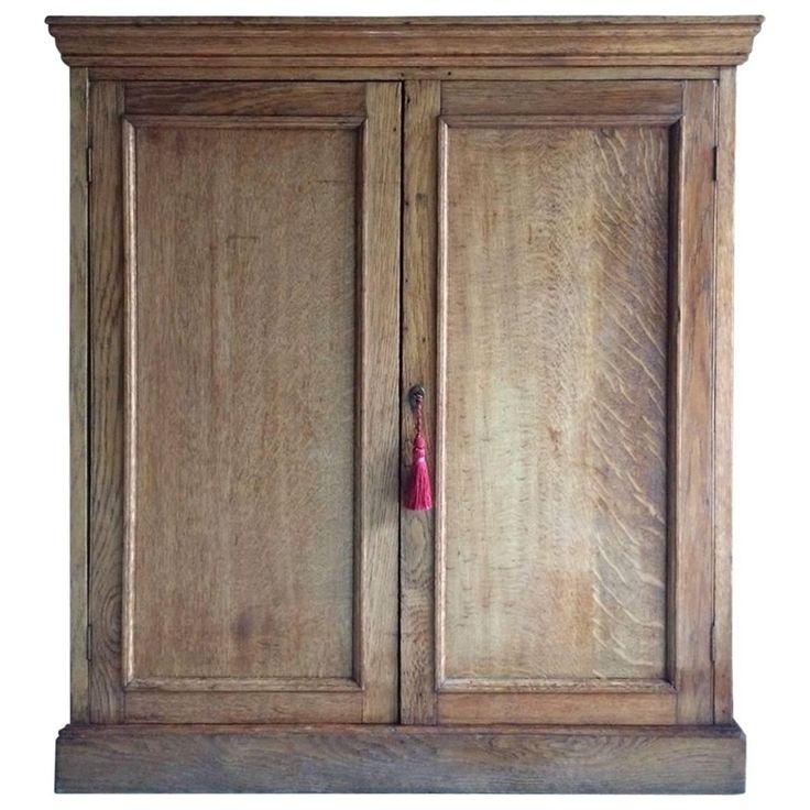 Antique Oak Hall Bathroom Cupboard Cabinet Oak Victorian 19th Century