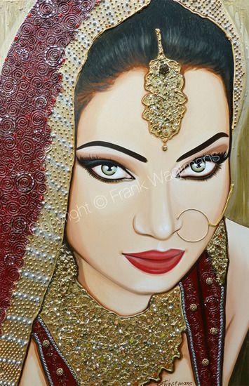 Modern Schilderij Vrouw