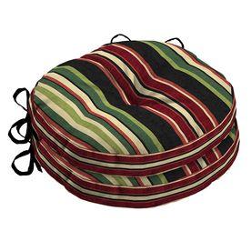 Garden Treasures Sanibel Stripe Seat Pad For Bistro Chair Af26465b