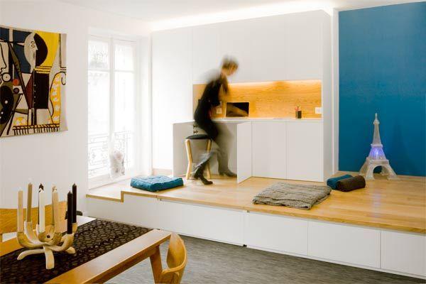 125 les meilleures images concernant d co studio sur pinterest cuisine interieur et studios Lit estrade chambre studio