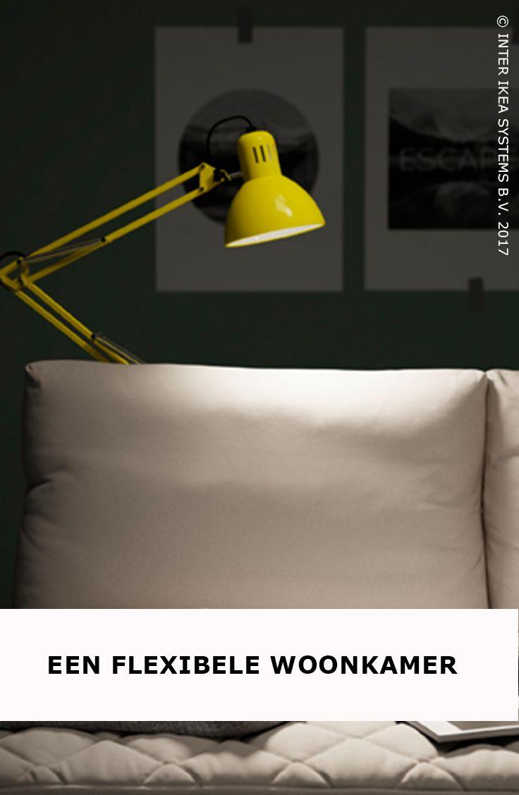 Je allereerste woonkamer inrichten zonder je budget te overstijgen? Het kan! Creëer een lichtere sfeer met een verstelbare lamp die geen vloerruimte in beslag neemt en het licht richt daar waar je het nodig hebt. TERTIAL Bureaulamp, 9,99/st. #IKEABE #IKEAidee  Decorating your first living room on a budget? It's possible! Lighten the mood with an adjustable lamp that doesn't take up floor space and that aims the light were you need it. TERTIAL Work lamp, 9,99//pce. #IKEABE #IKEAidea
