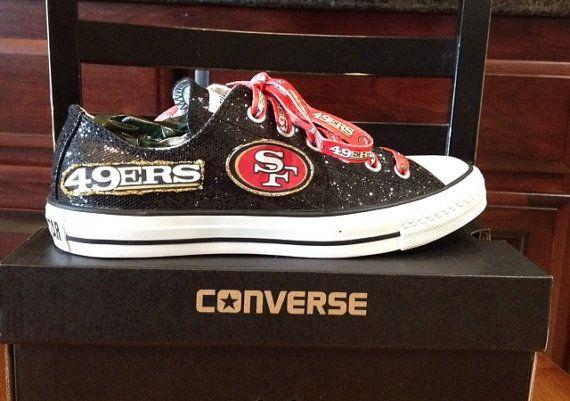 Womens' 49er's/Black Glitter on Etsy, $95.95 need these